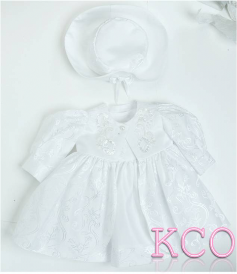 Coat & Dress B1012 White ~ girls dress